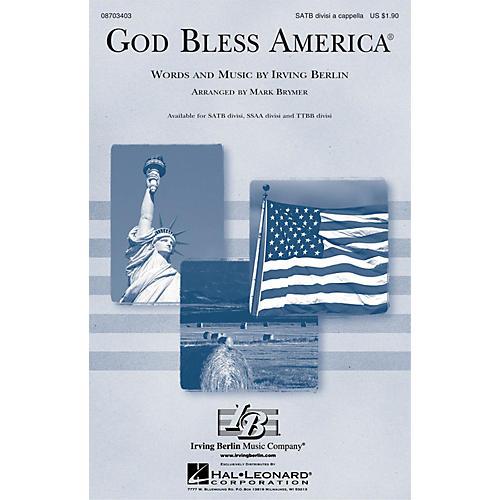 Hal Leonard God Bless America® SATB DV A Cappella arranged by Mark Brymer