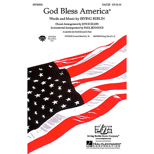 Hal Leonard God Bless America® SA(T)B arranged by Paul Jennings