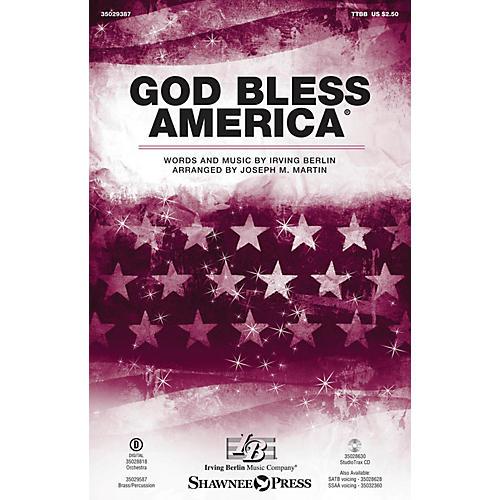 Shawnee Press God Bless America TTBB arranged by Joseph M. Martin