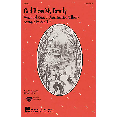 Hal Leonard God, Bless My Family 2-Part Arranged by Mac Huff