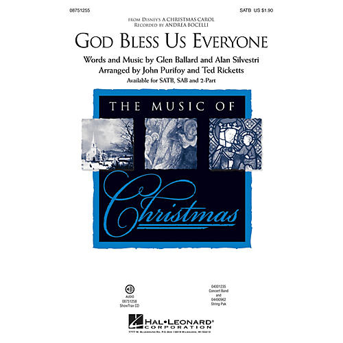 Hal Leonard God Bless Us Everyone (from Disney's A Christmas Carol) SAB by Andrea Bocelli Arranged by Ted Ricketts