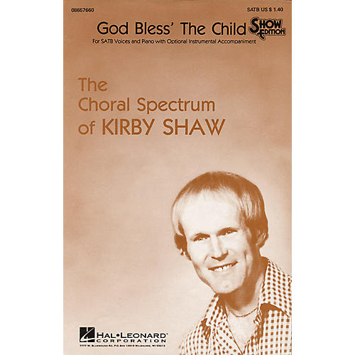 Hal Leonard God Bless the Child SATB arranged by Kirby Shaw