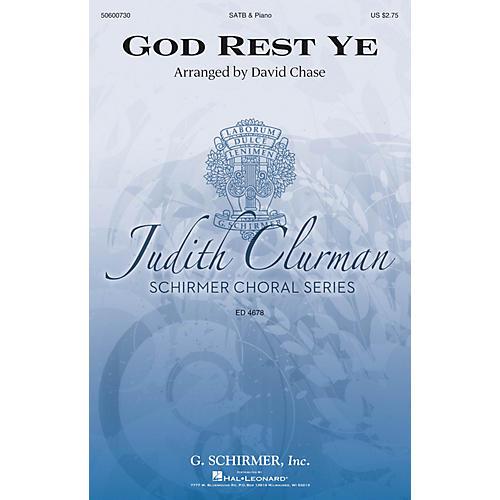 G. Schirmer God Rest Ye (Judith Clurman Choral Series) SATB arranged by David Chase