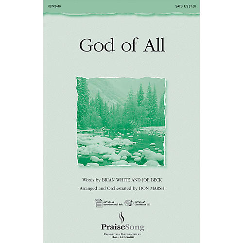 Hal Leonard God of All SATB arranged by Don Marsh