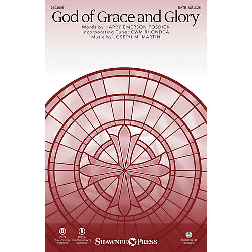 Shawnee Press God of Grace and Glory SATB/CONGREGATION composed by Joseph M. Martin