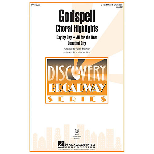 Hal Leonard Godspell (Choral Highlights Discovery Level 2) ShowTrax CD Arranged by Roger Emerson