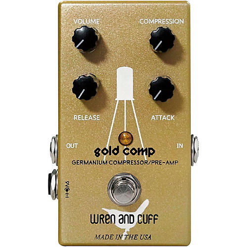 Wren And Cuff Gold Comp Germanium Compressor/Pre-Amp Effects Pedal Condition 1 - Mint