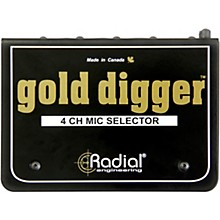 Open Box Radial Engineering Gold Digger 4-Channel Mic Selector