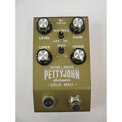 Pettyjohn Electronics Gold Mkii Effect Pedal