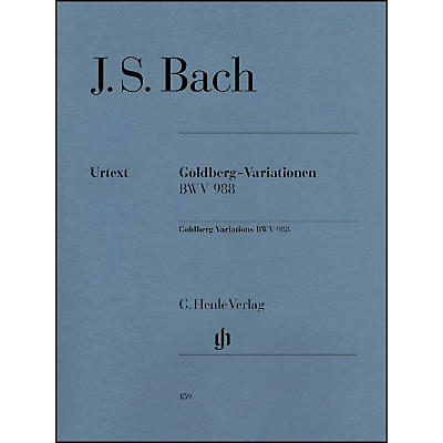 G. Henle Verlag Goldberg Variations BWV 988 By Bach