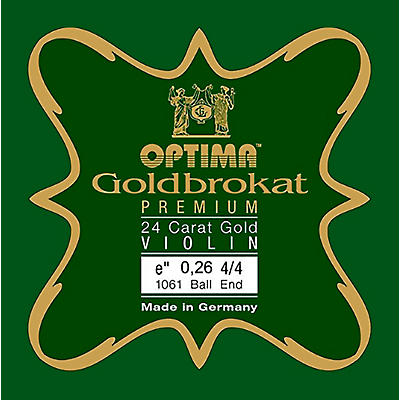 Optima Goldbrokat Premium 24K Gold Plated Steel Violin E String
