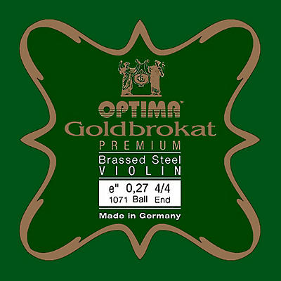 Optima Goldbrokat Premium Series Brassed Steel Violin E String