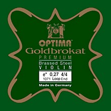 Optima Goldbrokat Premium Series Brassed Steel Violin E String