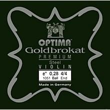 Goldbrokat Premium Series Steel Violin E String 4/4 Size, Heavy Steel, 28 guage ball end