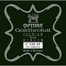 Goldbrokat Premium Series Steel Violin E String 4/4 Size, Heavy Steel, 28 guage loop end