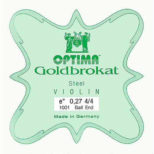 Optima Goldbrokat Series Steel Violin E String 4/4 Size, Medium Steel, 27 guage ball end