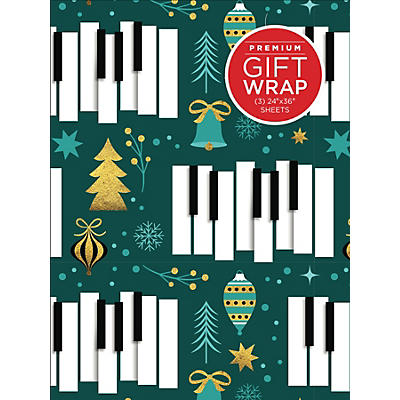 Hal Leonard Golden Piano Keys Holiday Gift Wrapping Paper