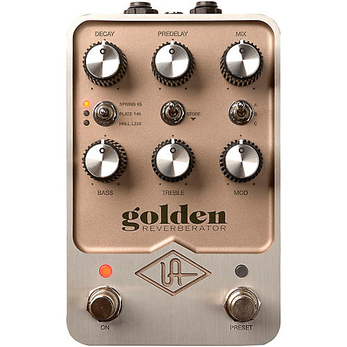 Universal Audio Golden Reverberator Effects Pedal Gold