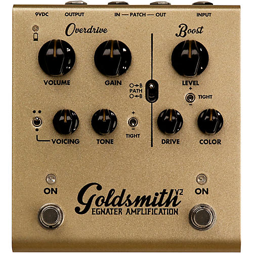 Goldsmith V2 Overdrive/Boost Guitar Effects Pedal