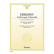 Schott Golliwogg's Cakewalk (from Children's Corner for Violin and Piano) String Solo Series Softcover