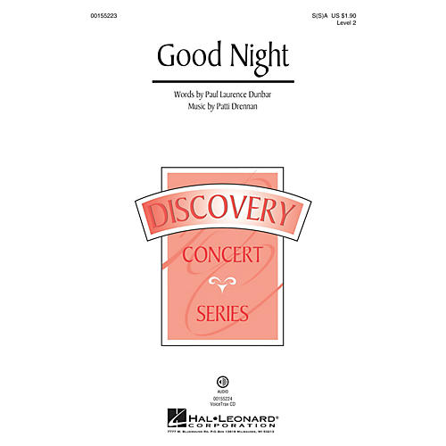 Hal Leonard Good Night (Discovery Level 2) SA with optional 2nd sop composed by Patti Drennan