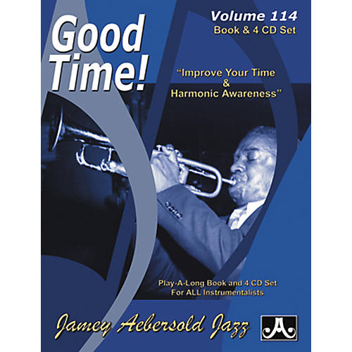Jamey Aebersold Good Time Play-Along Book and 4 CD Set