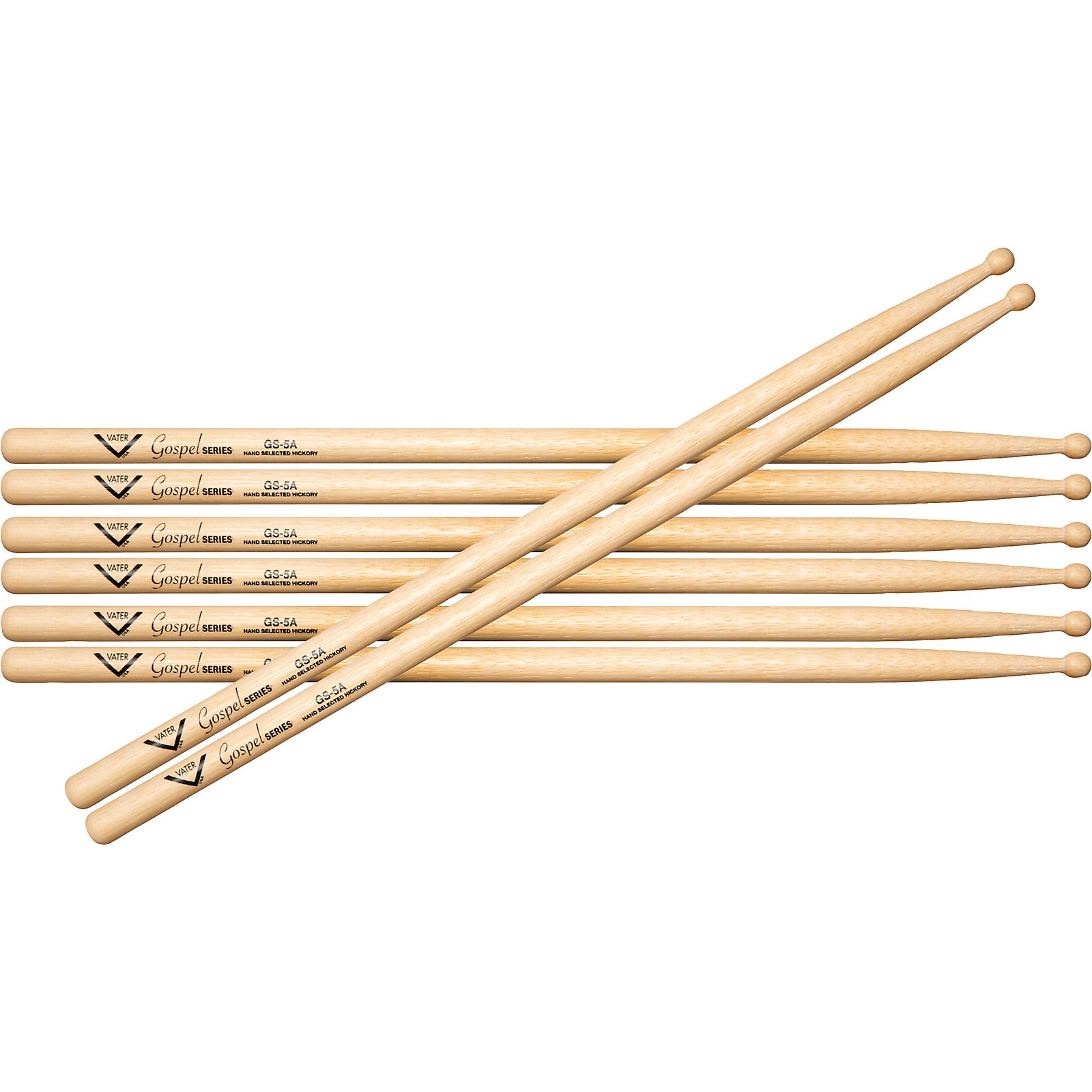 Vater Gospel 5A Drum Sticks - Buy 3, Get 1 Free