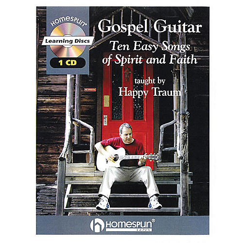 Homespun Gospel Guitar Taught by Happy Traum Book with CD