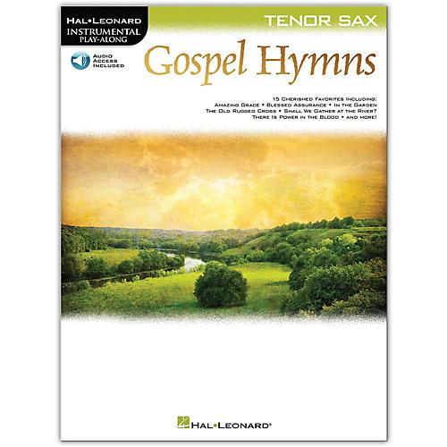 Hal Leonard Gospel Hymns For Tenor Sax Instrumental Play-Along Book/Audio Online