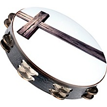 Meinl Gospel Praise and Worship Church Tambourine with Cross Graphic and Double Row Steel Jingles