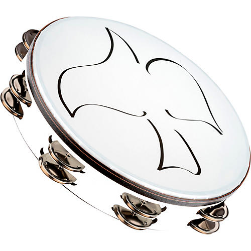 Meinl Gospel Praise and Worship Church Tambourine with Dove Graphic and Double Row Steel Jingles