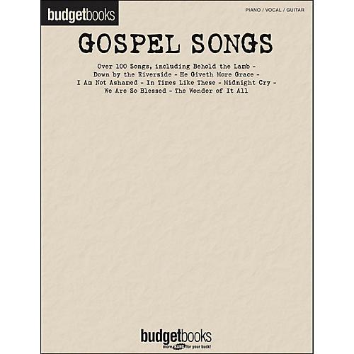 Hal Leonard Gospel Songs - Budget Books arranged for piano, vocal, and guitar (P/V/G)