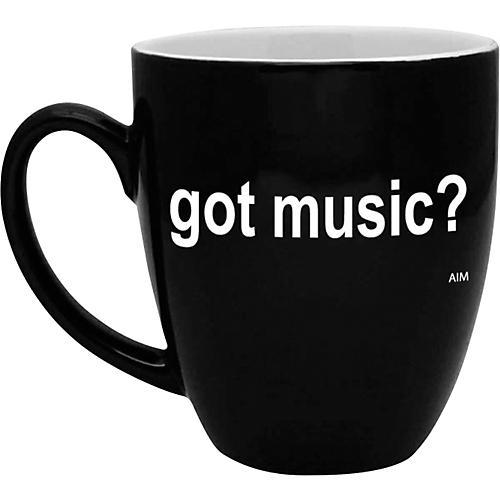 AIM Got Music? Black and White Bistro Coffee Mug