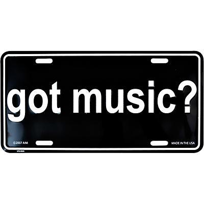 AIM Got Music? License Plate