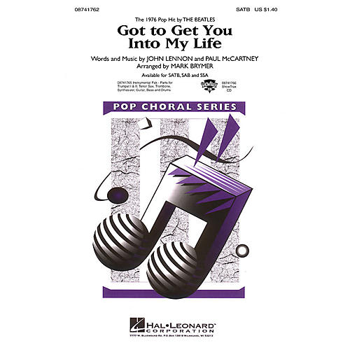 Hal Leonard Got to Get You into My Life (SATB) SATB by Earth, Wind & Fire arranged by Mark Brymer