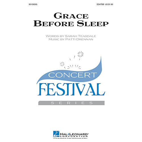 Hal Leonard Grace Before Sleep SSATBB composed by Patti Drennan