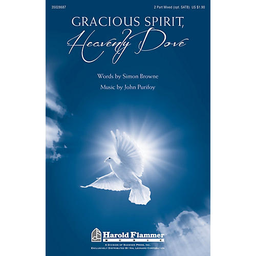 Shawnee Press Gracious Spirit, Heavenly Dove SATB/2PT MIXED composed by John Purifoy