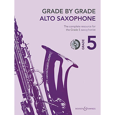Boosey and Hawkes Grade by Grade - Alto Saxophone (Grade 5) Boosey & Hawkes Chamber Music Series Book with CD