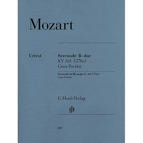 G. Henle Verlag Gran Partita Bb Major K361 Henle Music Folios Series Softcover by Wolfgang Amadeus Mozart