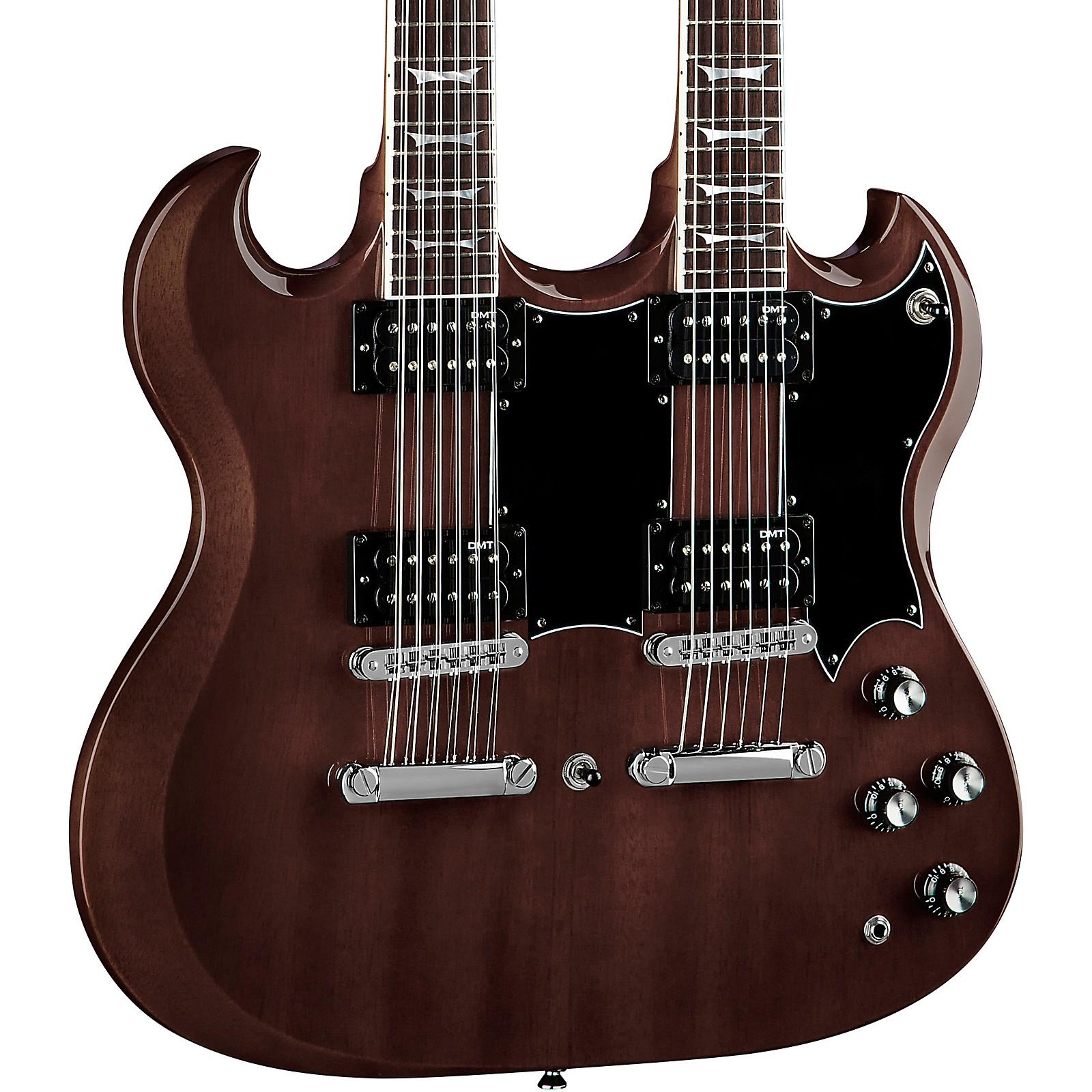 Dean Gran Sport Double Neck Worn Brown Electric Guitar