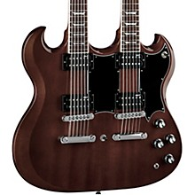 Dean Gran Sport Double Neck Worn Brown Electric Guitar