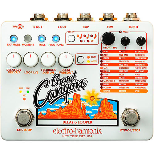 Electro-Harmonix Grand Canyon Delay and Looper Effects Pedal