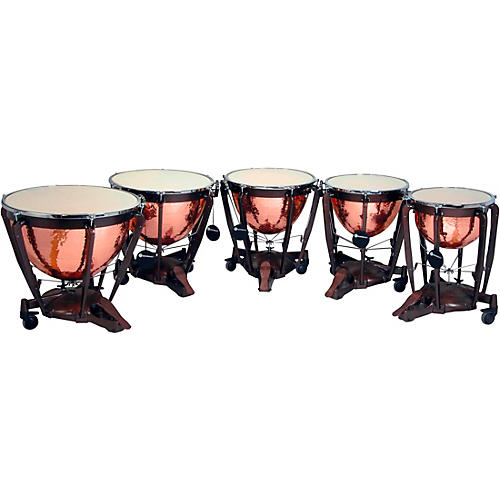 Bergerault Grand Professional Series Timpani Set with Hand Hammered Parabolic Copper Bowls 20, 23, 26, 29, 32 in.