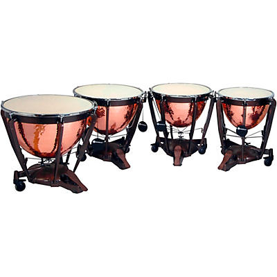 Bergerault Grand Professional Series Timpani Set with Hand Hammered Parabolic Copper Bowls
