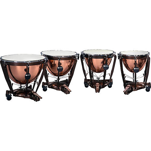 Bergerault Grand Professional Series Timpani Set with Parabolic Smooth Copper Bowls 23, 26, 29, 32 in.