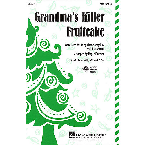 Hal Leonard Grandma's Killer Fruitcake 2-Part Arranged by Roger Emerson