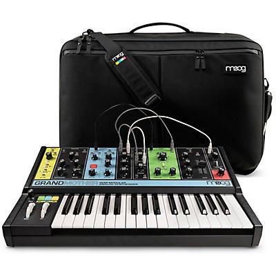Moog Grandmother Semi-Modular Analog Synthesizer and SR Case