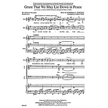 Transcontinental Music Grant That We Lie Down SATB composed by Marshall Portnoy