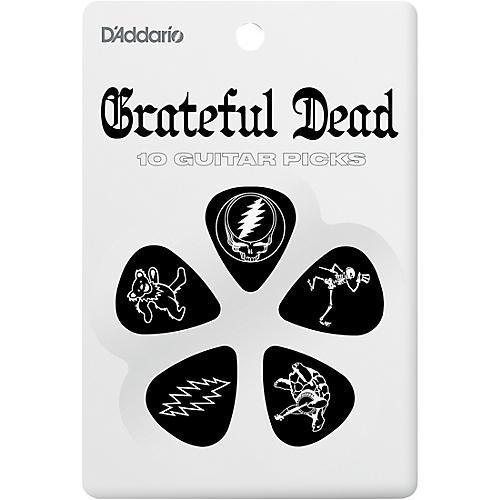 D'Addario Planet Waves Grateful Dead Icon Picks Black 10 Pack