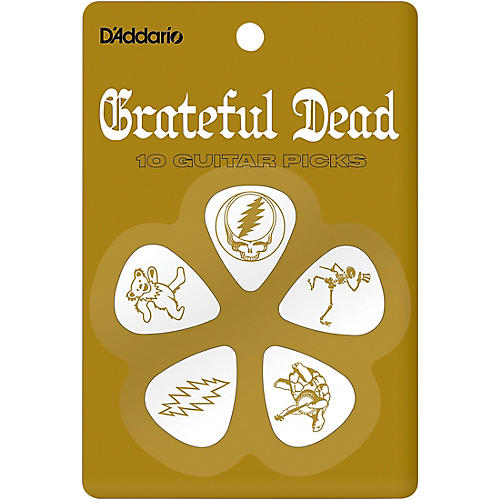 D'Addario Planet Waves Grateful Dead Icon Picks Olympic White 10 Pack
